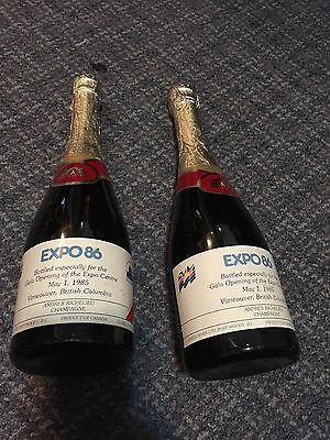 Two Expo 86 Unopened bottles of Champagne