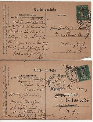 """1920 French Postage Stamps Surcharged & Overprinted """"O.M.F. - Syrie"""""""