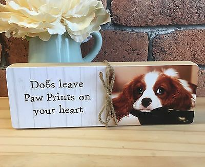 Personalised Wooden Dog Cat Puppy Kitten Pet Pine Photo Block You Choose Text