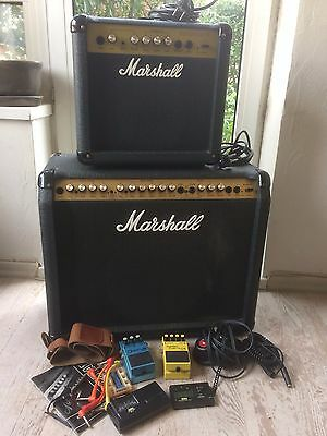 Lot Of 2 Marshall Valvestate 80 & 10 + Boss Turbo Overdrive Od-2 + Chorus Ce-3
