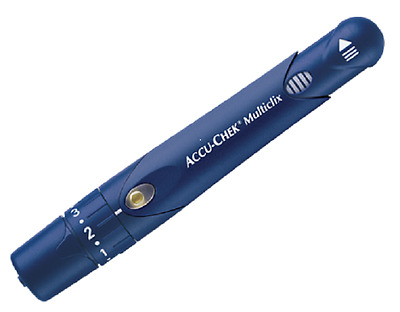 NEW Roche Accu Chek Multiclix Lancing Device (Black or Blue)