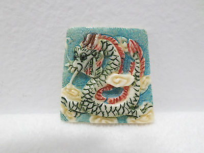 Antique Japanese Year of the Dragon Charm Porcelain