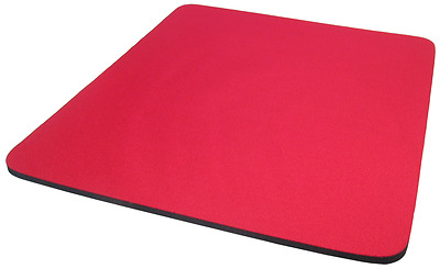 5.5mm Fabric Mouse Mat Pad RED  For All Mice Types **NEW**