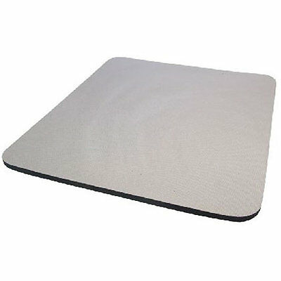 GREY 6 mm Fabric Mouse Mat Pad   For All Mice Types Foam construction PAD