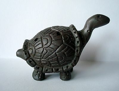 Whistle Turtle Handmade Clay musical instrument sculpture gift 5 sounds symbol
