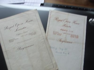 Theatre Programmes. Leicester Opera House, (2)