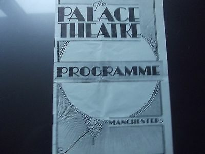 Old theatre programme Variety M/C Palace.1939