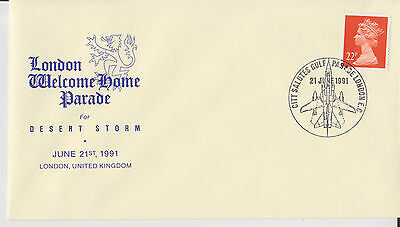 D 1013. Kuwait UK Desert Storm Welcome Home Parade Cover 1991