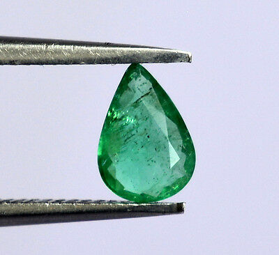 Certified Natural Emerald Pear Cut 7X5 mm 0.45 Cts Green Shade Loose Gemstone