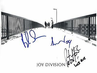 Joy Division SIGNED Photo 1st Generation PRINT Ltd  No'd + Certificate / 1
