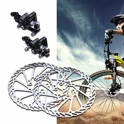 2x Mechanical Front & Rear Caliper Mountain Bike Bicycle Disc Brake Rotor 160mm