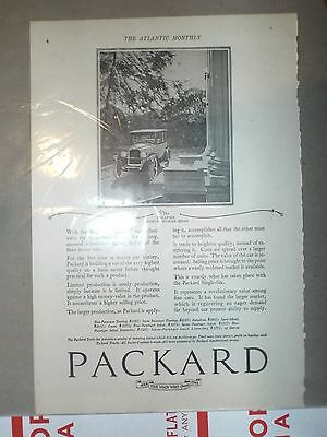 1922 Vintage Packard Car Ad  FREE POSTAGE USA
