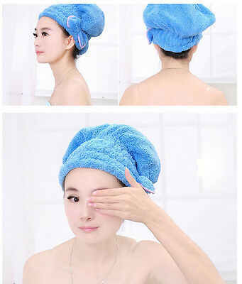 1X Magic Style Dry Hair Cap Shower Super Absorbent Microfiber Hair Wrap Towel ft