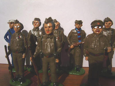 WW2 Dad's Army set of 8 lead soldiers From the BBC series