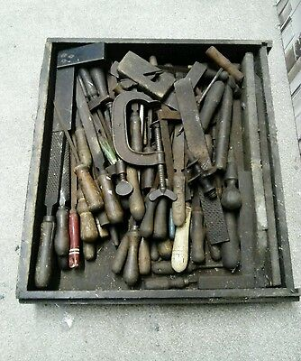 Old Box Of Old Tools
