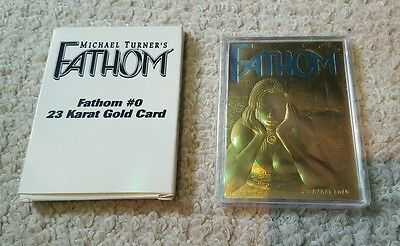 Fathom 23 Karat Gold Card with Blue Title