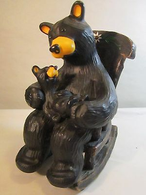 Bearfoots Jeff Fleming Big Sky Carvers CUDDLE TIME Parent Child Rocking Chair