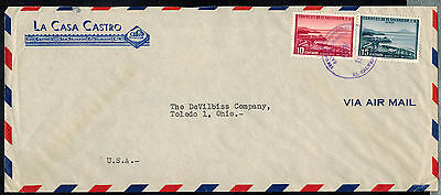 EL SALVADOR c1955  AIR MAIL ADVERTISING COVER*SAN SALVADOR TO TOLEDO, OH USA