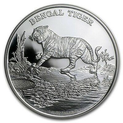 2015 Niue Island Bengal Tiger 1 Oz Silver Coin - Endangered Species Series NEW