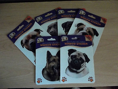 Dog Window Stickers *Various breeds to choose from*