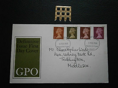 1968 Gb Stamps -5Th Feb- Definitive Set-Used Fdc