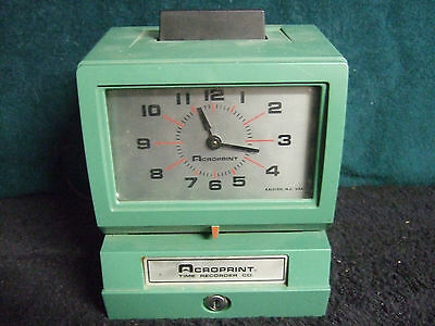 acroprint time clock recorder model 125 nr4