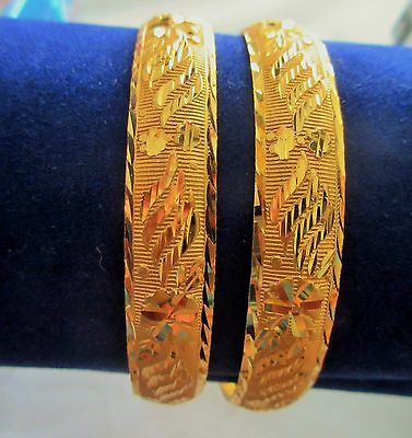 """Indian Bollywood Traditional Gold Plated Ethnic Bangle Bracelets Jewelry 2.10"""""""