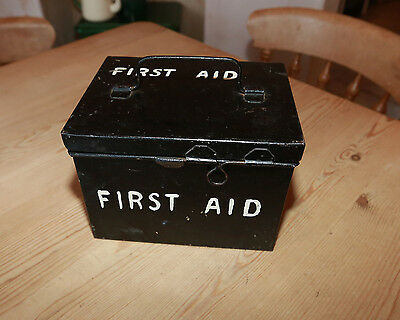 Vintage metal medical box-first aid box with contents IDEAL PROP