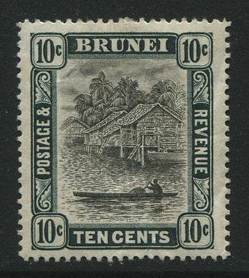Brunei: 1907 10 cents stamp - grey-black & deep green SG29 MM - AG215