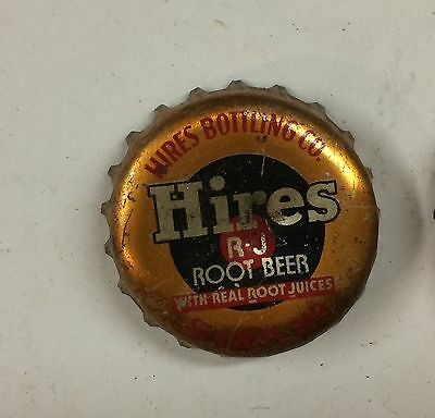 1940s HIRES ROOT BEER SODA cork lined crown bottle cap can ACL ST. LOUIS MO sign