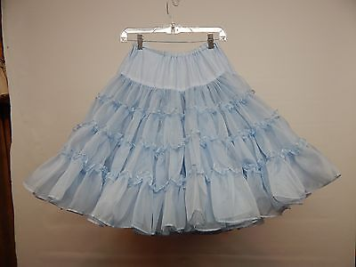 80 Yd Blue Nylon Square Dance Petticoat