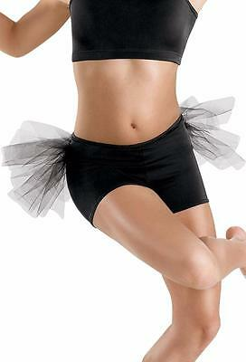 Dance Shorts Tutu Bustle Large Child RED Tap Jazz Competition Solo Pageant