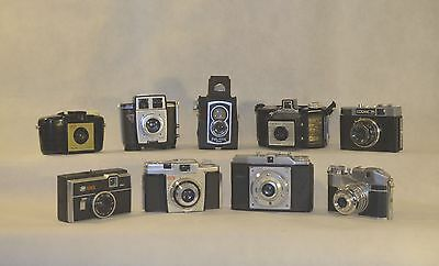 Job Lot of Vintage Cameras from Bencini to Ross. Pay and Display!