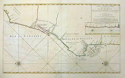 1693 Mortier Map Sea Chart -the West Coast of Africa (Western Sahara, Senegal)