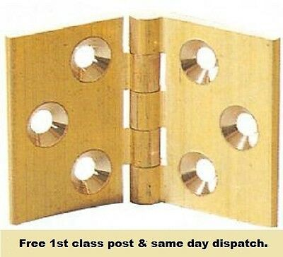 Solid brass hinges 32 x 48mm or 38 x 60mm for bureaux bureau counter drop flaps
