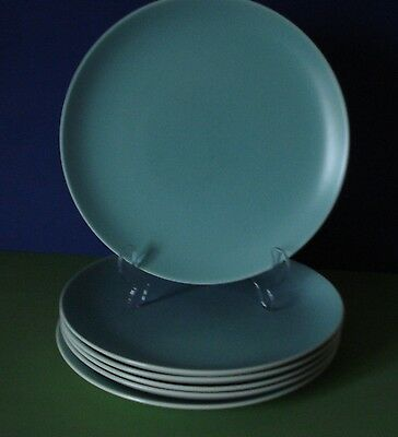 Vintage Poole Twintone  - 6 Dinner  & 6 Luncheon  Plates - Ice Green - Seagull