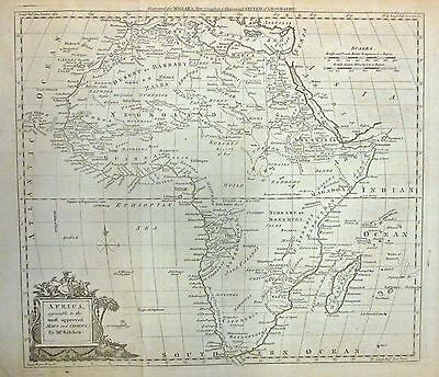1782 Kitchin Early Map of Africa - ORIGINAL MAP