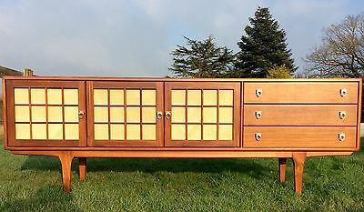 Vintage Long Retro Sideboard Storage Cabinet; Younger. 1960's Scandinavian Style