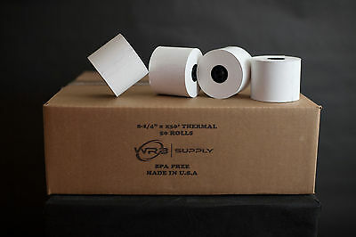 "Thermal Cash Register Pos Rolls, 2-1/4""X230', 50/Ct, White"