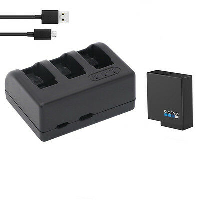 Original 1X 1220mAh Battery + triple charger for Gopro Hero 5 Action Camera