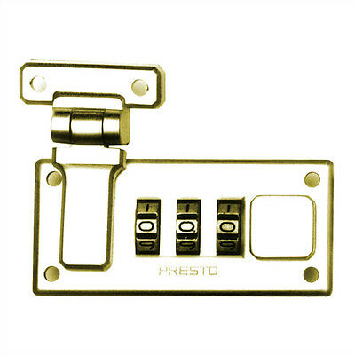 Briefcase Presto Combination Lock in Polished Brass (Right Side)