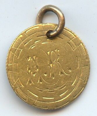 Love Token 1851 Gold $1 (#6687) Has a Wearing Ring. Carefully Check out  Photos