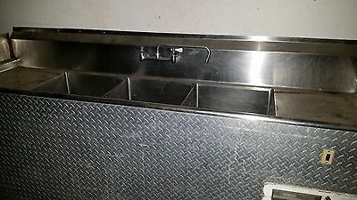 3 compartment sink with faucet self contained plus hand wash sink propane
