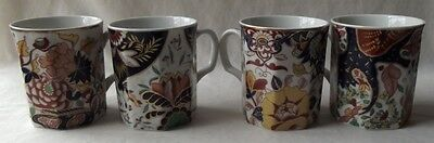 "Set Of 4 Gorgeous Andrea By Sadek ""classic Imari"" Porcelain Mugs"