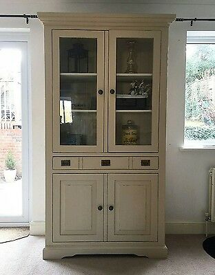shabby chic Armoire linen cupboard display cabinet bookcase