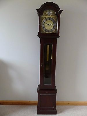 Mahogany 8 day Westminster Chiming Grandmother Clock