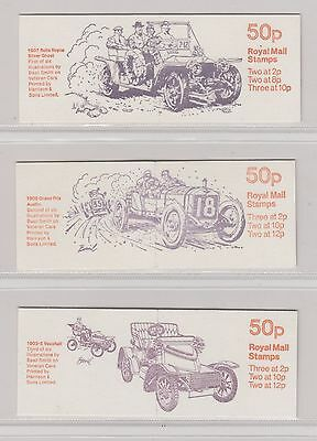 GB   FOLDED  BOOKLETs  50p 1981  Veteran Cars  Series SET  B  (6)   SG FB10/FB15