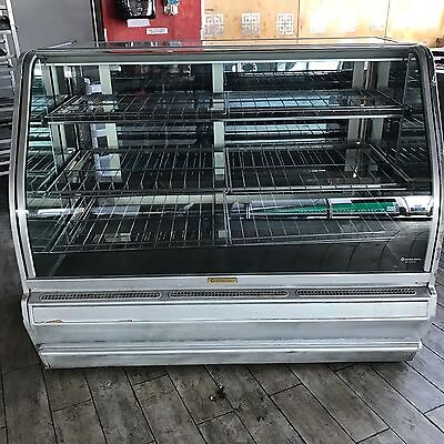 Structural Concepts Curved Glass Refrigerated Deli / Bakery Display Case