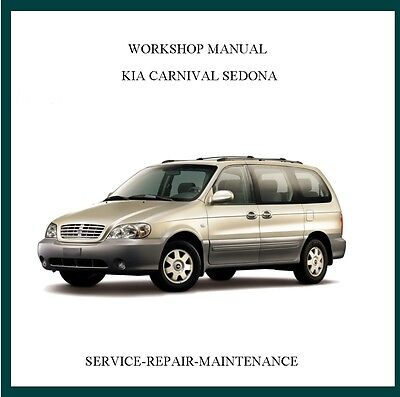 2002-2006 Kia Carnival Sedona Workshop Service Manual