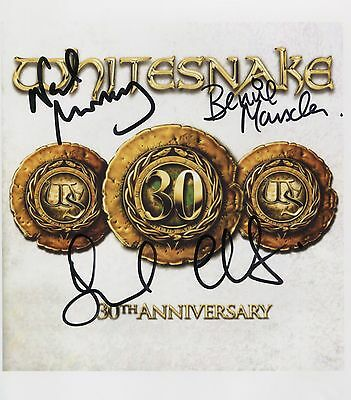 Whitesnake (Band) David Coverdale + 2 Signed 8 x 10 Photo Genuine In Person